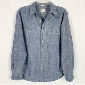 J. Crew Tailored Fit Chambray Long Sleeve Shirt